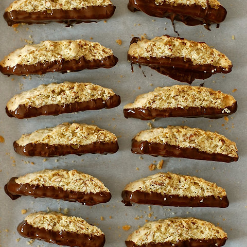 Chocolate-Covered Pretzel Biscotti