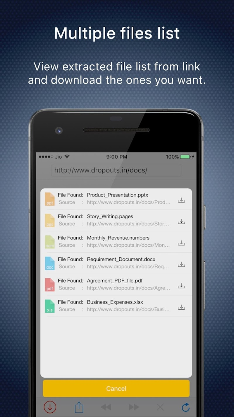 Blaze : Extract Files From Links To Download Screenshot 2