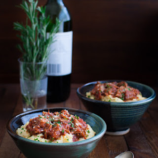 Pork Ragu with Easy Microwave Polenta
