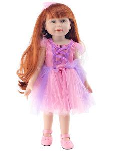 """Кукла серии """"Город Игр"""" 45 см, розовый-фиолетовый"""