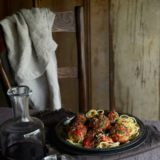 Roman Holiday Spaghetti and Meatballs with Rich Tomato Sauce
