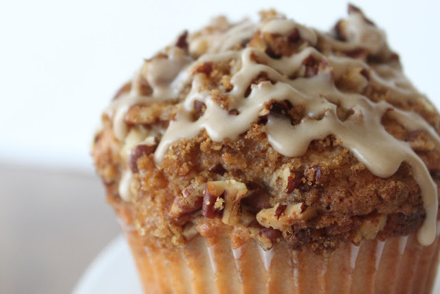 Coffee Cake Muffins with Salted Maple Glaze Recipe | Yummly