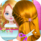 Game School kids Hair styles-Makeup Artist Girls Salon apk for kindle fire