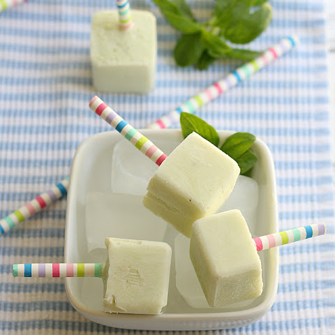 Creamy Basil Lemon Popsicles