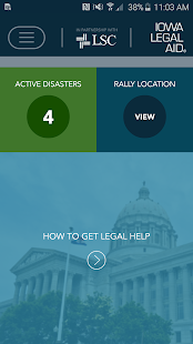 Iowa Legal Aid Disaster Relief - screenshot
