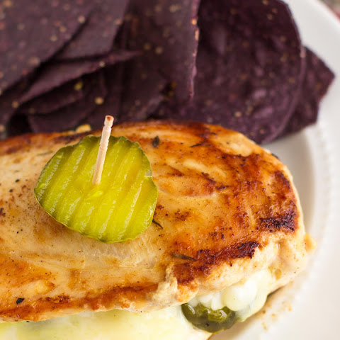Cheesy Pickle Stuffed Chicken Breasts