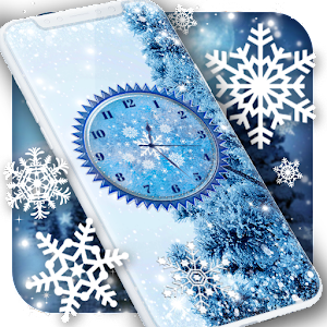 Winter Snow Clock Wallpaper Icon