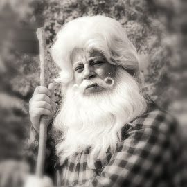 a gift of kindness by Bob  Jauch - People Street & Candids ( jolly old man, storytellers, santa claus, epcot, canada christmas )