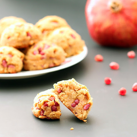 Golden Pomegranate Scones with tips for easily removing Arils / Fruit (Gluten-Free, Vegan / Plant-Based, Refined Sugar-Free)
