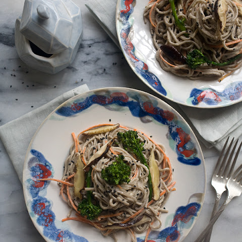 Spicy-Tahini Soba Noodle Salad