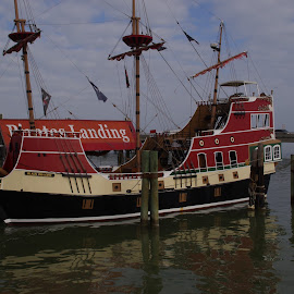 All tied up by Michael Hoover - Transportation Boats ( pirates, ship, floating museum, boat )
