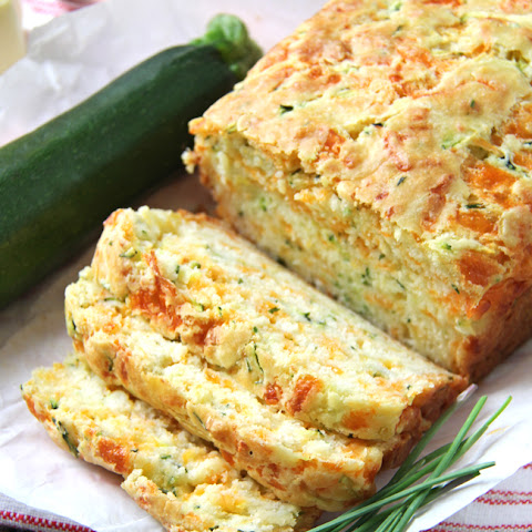 Zucchini, Cheddar Cheese & Chive Buttermilk Quick Bread