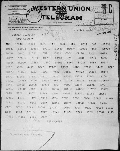 On March 1, 1917, American newspapers printed the decoded Zimmermann telegram, sent from Germany to Mexico offering an anti-American alliance. The direct threat to the United States further inflamed public opinion against Germany.