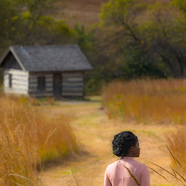by Mitch Tranmer - People Street & Candids ( nature, woman, fall, landscape, prairie )