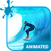 Surfing Animated Keyboard + Live Wallpaper Icon