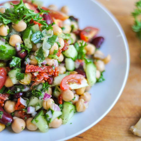 Chickpea, Red Bean and Herb Salad