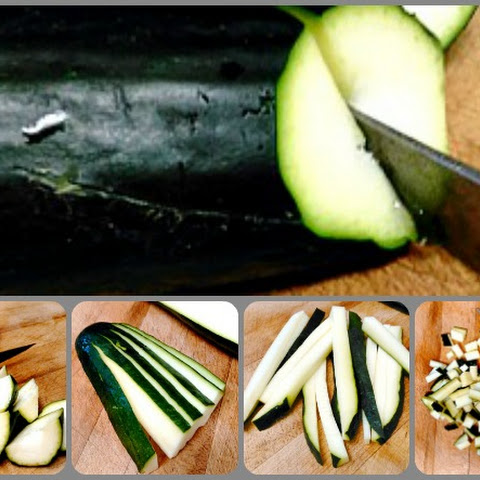 Zucchini Fans and Knife Skills