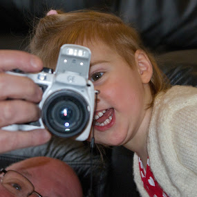 I can see! by Stephanie Moore - Babies & Children Children Candids ( child, girl, granddaughter, camera, kyrie, lens )