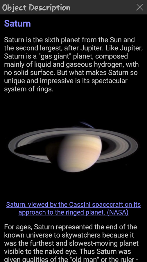 StellaAccess Planetarium Screenshot 2