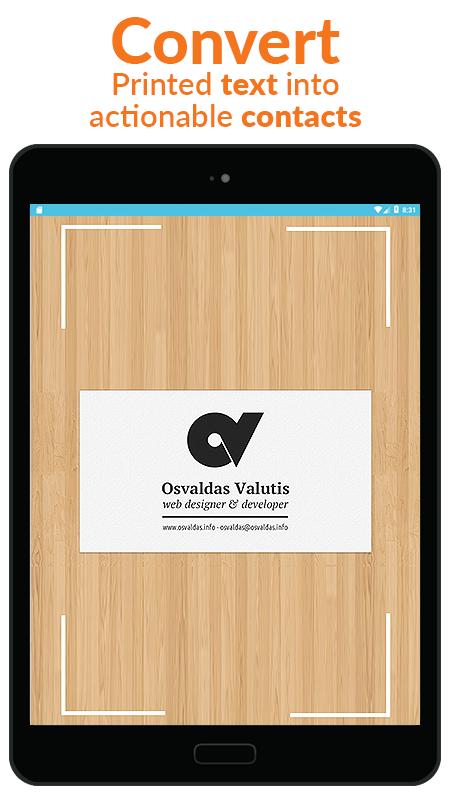 Business Card Scanner & Reader - Free Card Reader Screenshot 12