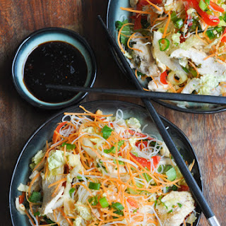 Thai Steamed Chicken and Rice Noodle Salad