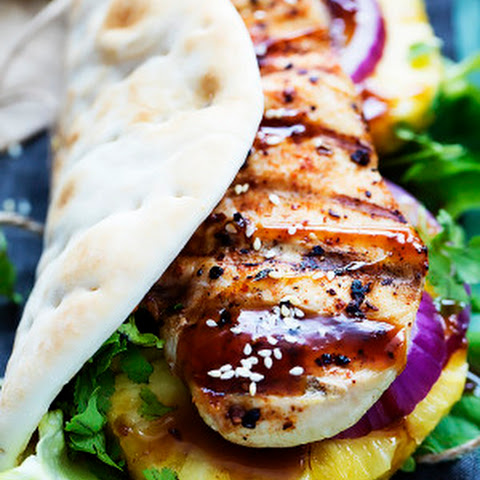 Grilled Pineapple Teriyaki Chicken Wraps