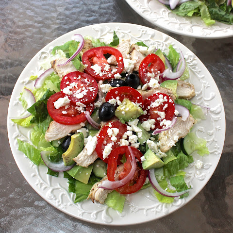 Greek Salad with Greek Yogurt Dressing