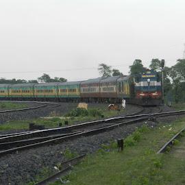 Indian Railways by Subroto Ghosh - Transportation Trains ( railway, locomotive, train, tracks, transportation )