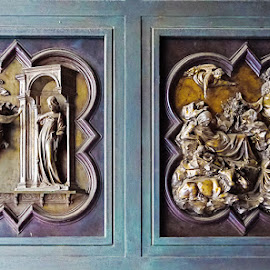 Doors, Florence by Zdenka Rosecka - Buildings & Architecture Architectural Detail