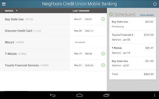 Screenshot of Neighbors Credit Union