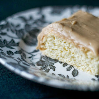 Hot Water Sponge Cake with Quick Caramel Frosting