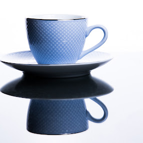 Blue Cup & Saucer by Simon Hall - Artistic Objects Cups, Plates & Utensils (  )
