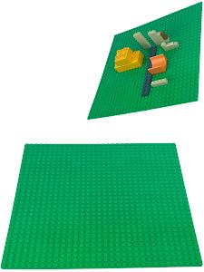 Пластина Baseplate для конструкторов, зеленая, одностороняя