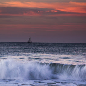Boat on Sea of Cortez by Brent Huntley - Landscapes Travel ( brentsfavoritephotos.blogspot.com, cortez, cabo, ship, mexico, sea, travel, seascape, los cabos, beach, boat, landscape, tamron, coast, photography, baja california, wave, san jose del cabo, crashing, sunrise, nikon )