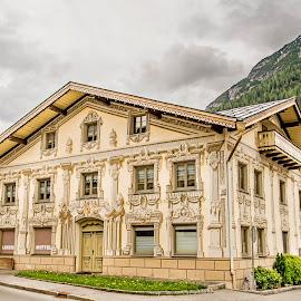 Old house in alpine city by Linda Brueckmann - City,  Street & Park  Neighborhoods