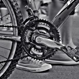 Bicycle in moving society by Iman Alfarizi - Transportation Bicycles ( monochrome, bike,  )