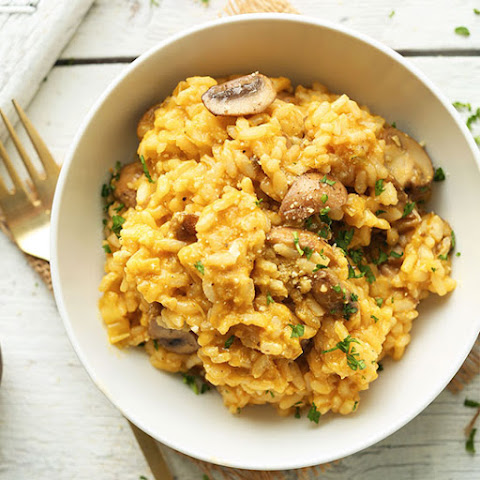 Mushroom and Leek Risotto (Vegan + GF)