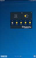 Screenshot of WeatherBug Time & Temp widget
