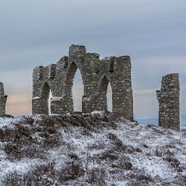 Fyrish Monument in winter. by Peter Bartlett - Buildings & Architecture Statues & Monuments