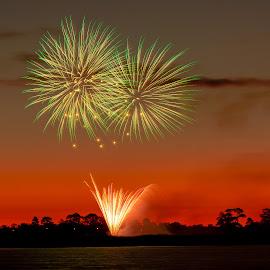 Australia Day by Madhujith Venkatakrishna - Abstract Fire & Fireworks
