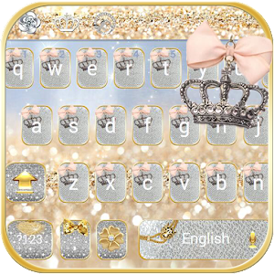 Silver gold Keyboard theme For PC