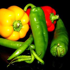 Peppers by Vijay Singh - Food & Drink Fruits & Vegetables
