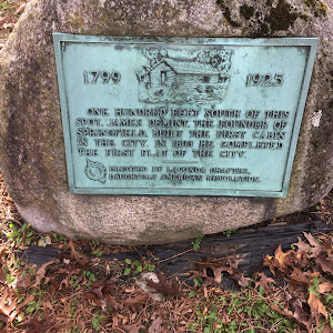 1799 1925 One Hundred Feet South Of This Spot, James Demint, The Founder Of Springfield, Built The First Cabin In The City. In 1803 He Completed The First Plat Of The City Erected By The Lagonda ...
