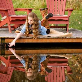 Mirror Image by Cristi Garza - People Family