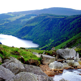 Glendalough, Co Wicklow by Annette Reddy-Keating - Landscapes Mountains & Hills ( mountains, lakes, woodland, streams, landscape )