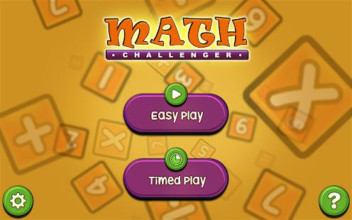 Math Challenger Game apk screenshot