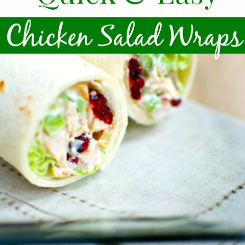 Quick & Easy Chicken Salad Wraps