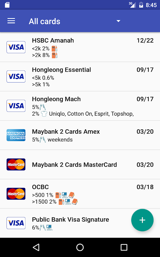 Credit Card Manager Pro Screenshot 8