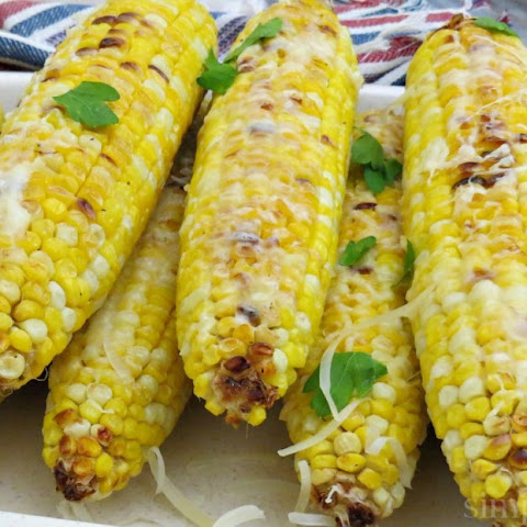Roasted Parmesan Corn on the Cob