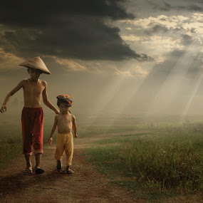 under the light by Budi Cc-line - Babies & Children Toddlers ( indonesia )